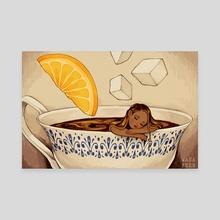 Tea Girl - Canvas by iohym