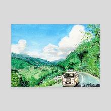 Studio Ghibli Only Yesterday Painting - Canvas by Adela V