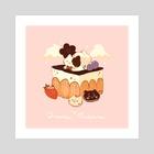 Tiramisu Cat - Art Print by Nadia Kim
