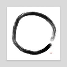 Zen Enso Circle Symbol - Canvas by Paul Raven