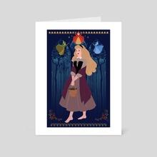 Briar Rose - Art Card by Deena Draws