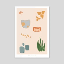 garden / poster series #004 - Acrylic by Heather Patterson