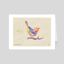 Swirly Bird - Art Card by Carolina Matthes