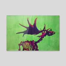 Giant Irish Elk - Acrylic by Katrīna Tračuma