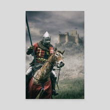Middle Ages Knight - Canvas by Carlos Caetano
