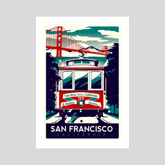 san francisco cable car california by matt schnepf