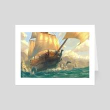 Pirate Ship - Art Card by Yasu Matsuoka
