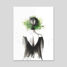 Lost - Acrylic by Santa Moreno-Gonzalez