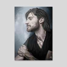 Nikolaj Coster-Waldau - Acrylic by Liliana Corradini