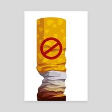 No smoking - Canvas by Alisa Rysaeva