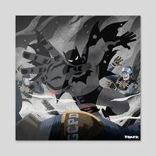 Batman Year One - Acrylic by Ryan Barr