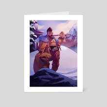The Cold Warrior - Art Card by Elias Neophytou