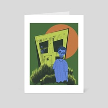 The House With the Laughing Windows  - Art Card by Zora Gezella