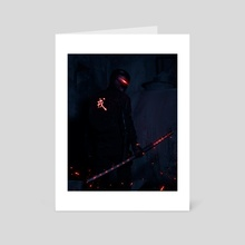 Neon Samurai - Art Card by Vitor Esteves