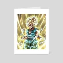 Super Saiyan 2 Goku - Art Card by CELL-MAN