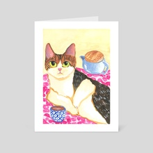 Morning Tea in Bed  - Art Card by Annisa Frankes-Purwanto