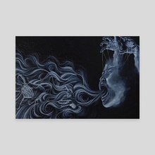 where does the monster reside - Canvas by Jackie Liu