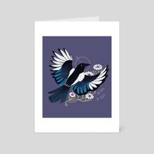 Familiar: Eurasian Magpie - Art Card by Reimena Yee