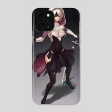 2B (Spider-Gwen outfit) - Phone Case by Nick Savino