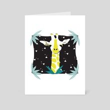 Safari Kid - Giraffe Black - Art Card by Justine Swindell