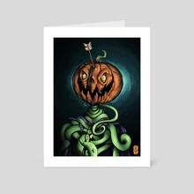 Mad Pumpkin  - Art Card by Rodney  Amirebrahimi