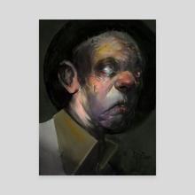 Zombie - Canvas by rachel owens