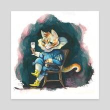 Van Kitten - Canvas by Kit Seaton