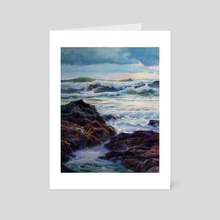 Intertidal Evening - Art Card by Jordan K Walker