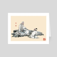 Chinese Figure - 1 - Art Card by River Han
