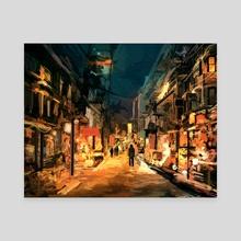 December Lights - Canvas by Daniel Ignacio