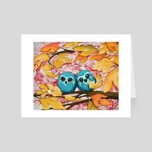 Autumn Owls - Art Card by Eric Clark