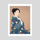 Falling plum blossoms - Art Print by Sai Tamiya
