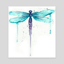 Dragonfly - Canvas by Ursula Williams