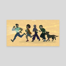 Gang On The Case!! - Canvas by The Kodo