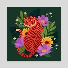 Hiding Tiger - Canvas by Lauren Myers