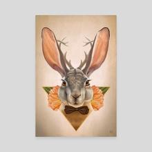 Jackalope - Canvas by Derrick Villalpando