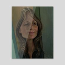 Helen Hunt - Acrylic by Alexander Novoseltsev