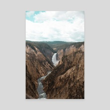 Yellowstone 3 - Canvas by Elaine Li