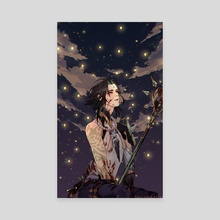 Xiao in a Sea Of Lights (Genshin Impact) - Canvas by Cotton