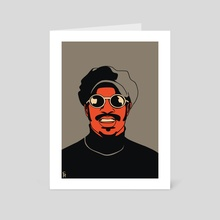 Stevie Wonder - Art Card by Sébastien  Restrepo