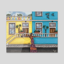 Sebenzela Nina - Acrylic by Megan St. Cyr