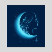 Moonlight Grace - Canvas by Enkel Dika