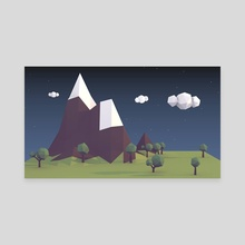 Low Poly Land - Canvas by Justin Bruss
