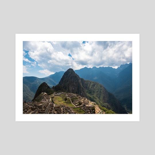 The mountainous setting of Machu Picchu by Namchetolukla