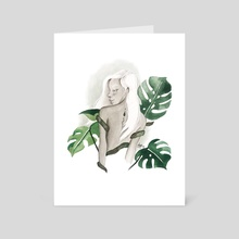 monstera goddess - Art Card by elyse lauthier