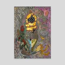 M001 Fatimas Hand - Canvas by Mohamed Hamida
