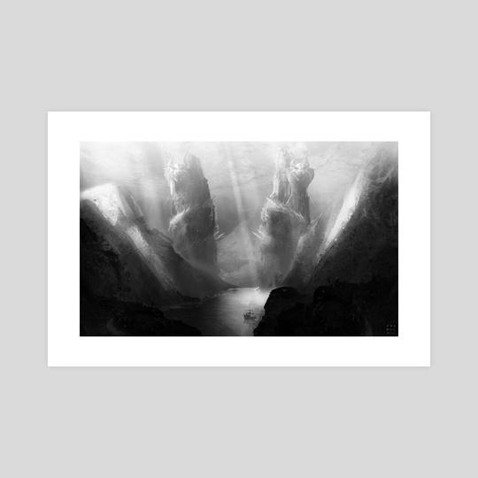Two Dragons (Greyscale) by Vasburg