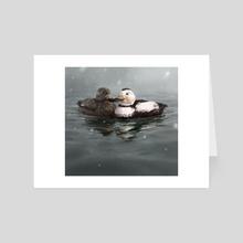 Labrador Duck Pair - Art Card by Andrew Sonea