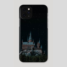 Hogwarts at night  - Phone Case by Harsh Aaryan