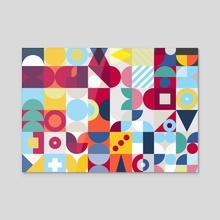 Geometry Colour poster - Acrylic by Revolution Australia